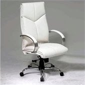 Office Star White Leather Executive Chair