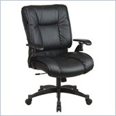 Office Star SPACE Collection Deluxe Conference Chair with Cantilever Arms Black