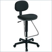 Office Star Economical Chair with Chrome Teardrop Footrest (Height Adjustable 23 to 33) (special order)