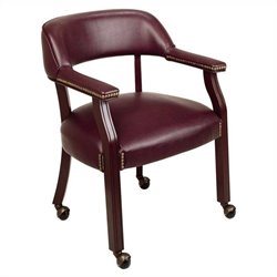 Office Star Traditional Arm Guest Chair Casters