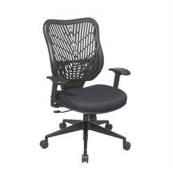 Office Star SPACE EPICC SpaceFlex Back Executive Office Chair in Raven