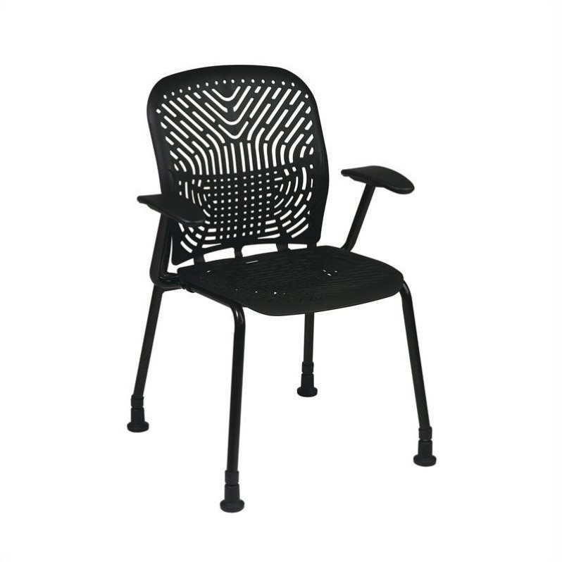 801 Raven Visitors Chair with BF and Arms and Glides (Set of 2)