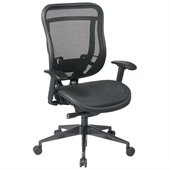 Office Star 818 High Back Chair w/ Mesh Seat & Back in Black/Gunmetal