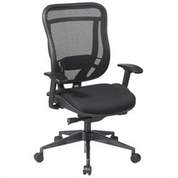 Office Star 818 High Back Office Chair w/ Mesh Seat in Black/Gunmetal