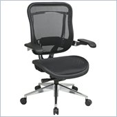 Office Star 818A High Back Chair w/ Mesh Seat in Black/Gunmetal