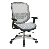 Office Star White DuraGrid Seat & Back Chair