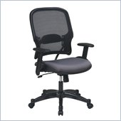 Office Star 15 Air Grid Back Fabric Seat Manager's Chair in Steel