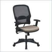 Office Star 15 Air Grid Back Fabric Seat Manager's Chair in Cornstalk