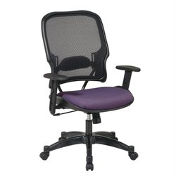 Office Star 15 Air Grid Back Fabric Seat Manager's Office Chair in Grape
