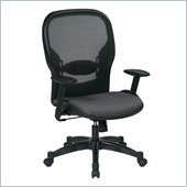 Office Star 23 Air Grid Back Fabric Seat Manager's Chair in Steel