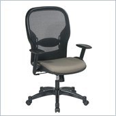 Office Star 23 Air Grid Back Fabric Seat Manager's Chair in Cornstalk