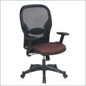 Office Star 23 Air Grid Back Fabric Seat Manager's Chair in Rosewood