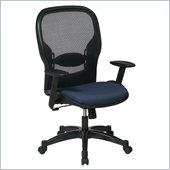 Office Star 23 Air Grid Back Fabric Seat Manager's Chair in Indigo
