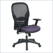 Office Star 23 Air Grid Back Fabric Seat Manager's Chair in Grape