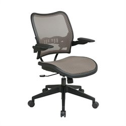 Office Star 13 Latte/Black Air Grid Seat & Back Office Chair Cantilever Arms