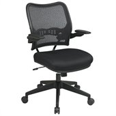 Office Star 13 Chair w/Air Grid Back & Mesh Seat in Black