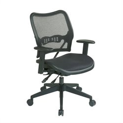 Office Star 13 Office Chair w/Air Grid Seat & Back in Black