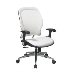 Office Star 33 White Vinyl Back & Seat Managers Office Chair