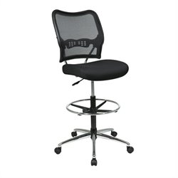 Office Star 13 Air Grid Back Drafting Chair w/ Mesh Seat in Black