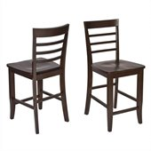 Office Star Jamestown Barstools in Espresso (Set of 2)