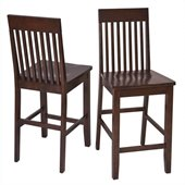 Office Star Westbrook Barstools in Espresso (Set of 2)