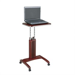 Office Star Precision Adjustable Laptop Stand in Light Cherry