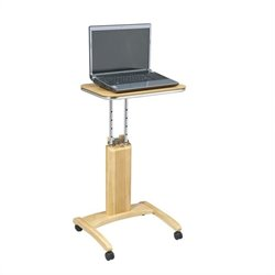 Office Star Precision Adjustable Laptop Stand in Maple