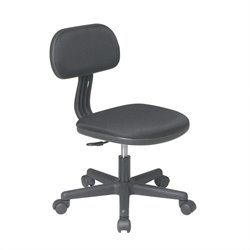Office Star OSP Designs Seating Task Office Chair in Black
