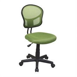 Office Star OSP Designs Seating Mesh Task Office Chair in Green