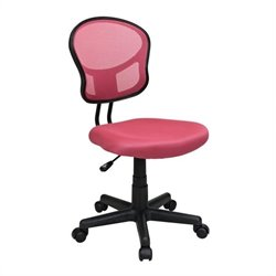 Office Star OSP Designs Seating Mesh Task Office Chair in Pink
