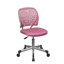Office Star OSP Designs Seating SpaceFlex Task Office Chair in Hot Pink