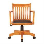 Office Star OSP Designs Seating Deluxe Bankers Chair with Vinyl Seat