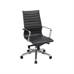 Office Star Deluxe Black Eco Leather High Back Managers Office Chair