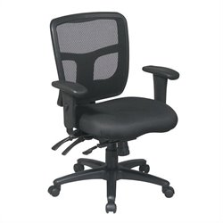 Office Star ProGrid Back Mid Back Managers Office Chair with Adjustable Arms