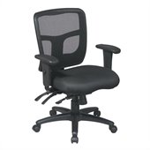 Office Star ProGrid Back Mid Back Managers Chair with Adjustable Arms