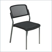 Office Star Titanium Finish Visitors ProGrid Chair (Set of 2)