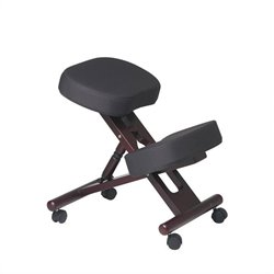 Office Star Ergonomic Wood Knee Office Chair with Memory Foam in Mahogany