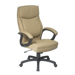 Office Star Executive High Back Tan Eco Leather Office Chair