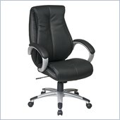 Office Star Executive High Back Black Eco Leather Chair