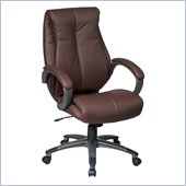 Office Star Executive High Back Wine Eco Leather Chair
