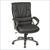Office Star Executive High Back Espresso Eco Leather Chair