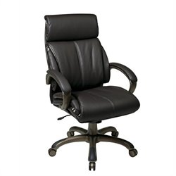 Office Star Executive Espresso Eco Leather Office Chair