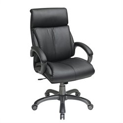 Office Star Executive Black Eco Leather Office Chair with Tilt Control