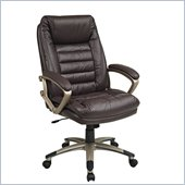 Office Star Wine Eco Leather Chair with Locking Tilt Control