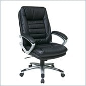 Office Star Eco Leather Chair with Locking Tilt Control