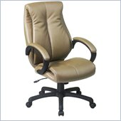 Office Star Deluxe High Back Executive Coated Tan Leather Chair