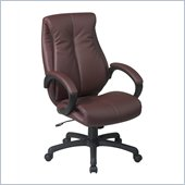 Office Star Deluxe High Back Executive Coated Wine Leather Chair