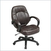 Office Star Deluxe Chocolate Faux Leather Managers Chair