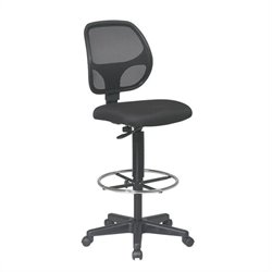 Office Star Deluxe Mesh Back Drafting Chair with Mesh Seat
