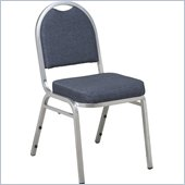 Office Star Armless Stacking Chair in Blue (Set of 2)